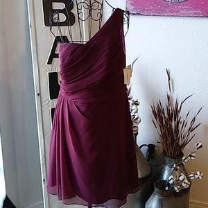 NWT short chiffon one shoulder  dress